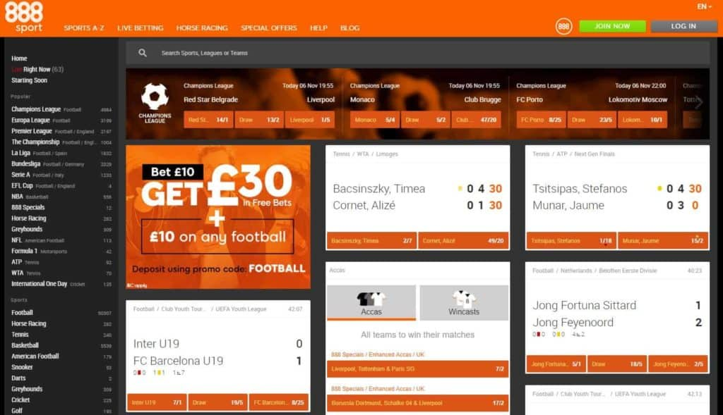 888sport Online Betting Homepage