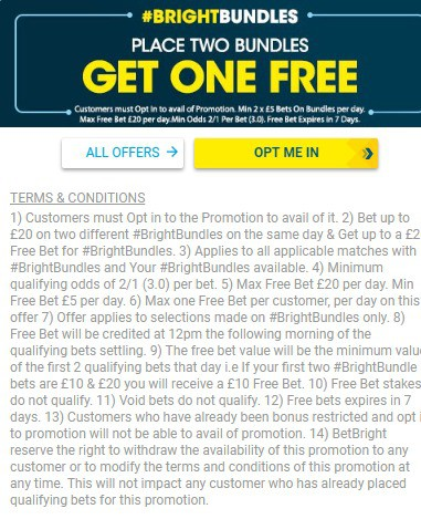 BetBright Sports Betting Bundle Promotion