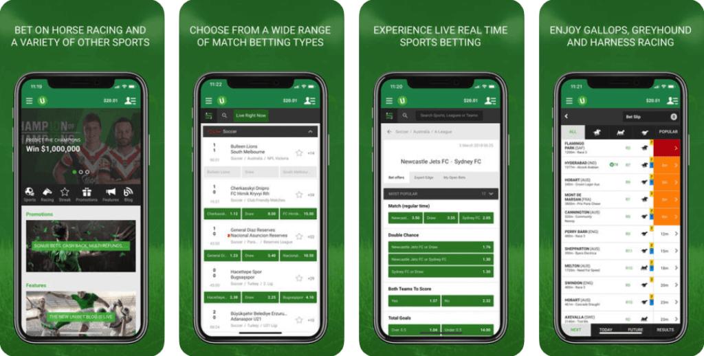 Unibet Sports App screenshots from itunes