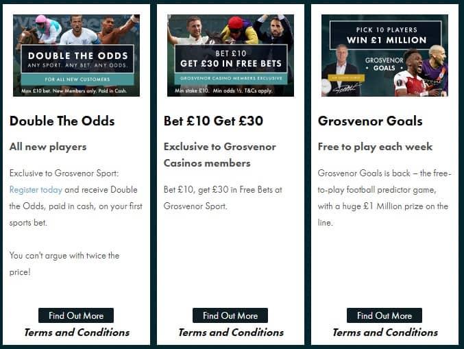 Grosvenor Online Betting Promotions