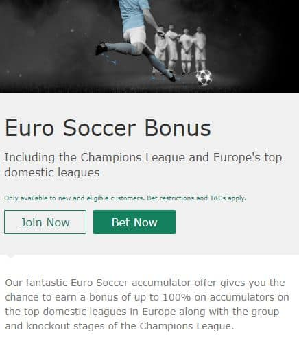 bet365 Football Promotion - Euro Soccer Bonus