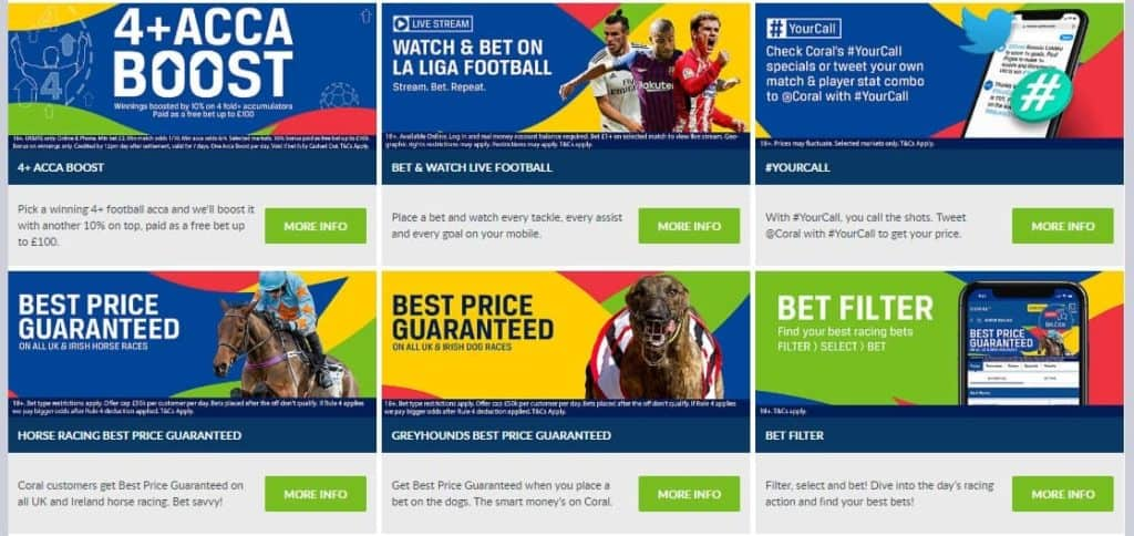 Coral Sports Betting Ongoing Promotion Section
