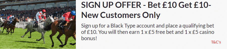 Black Type Sign Up Offer