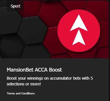 MansionBet Promotion Acca Boost