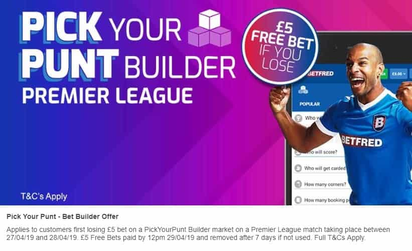 Betfred Bet Builder for Premier League Betting
