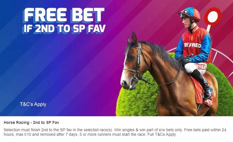 Betfred Horse Racing Free Bet for Position