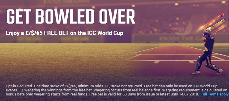 Ruby Bet ICC World Cup Bet
