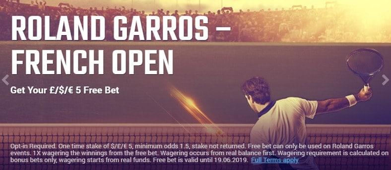 Ruby Bet Tennis Roland Garros Bonus