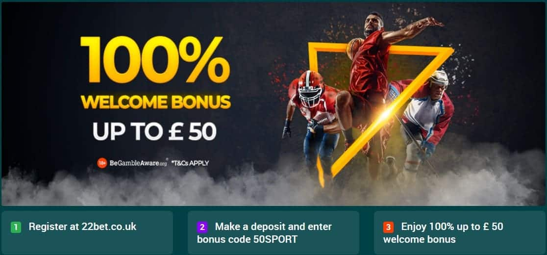 22bet Sport Sign Up Offer Terms