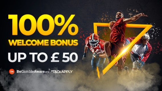 22bet Sports 100% Welcome Bonus Up to £50