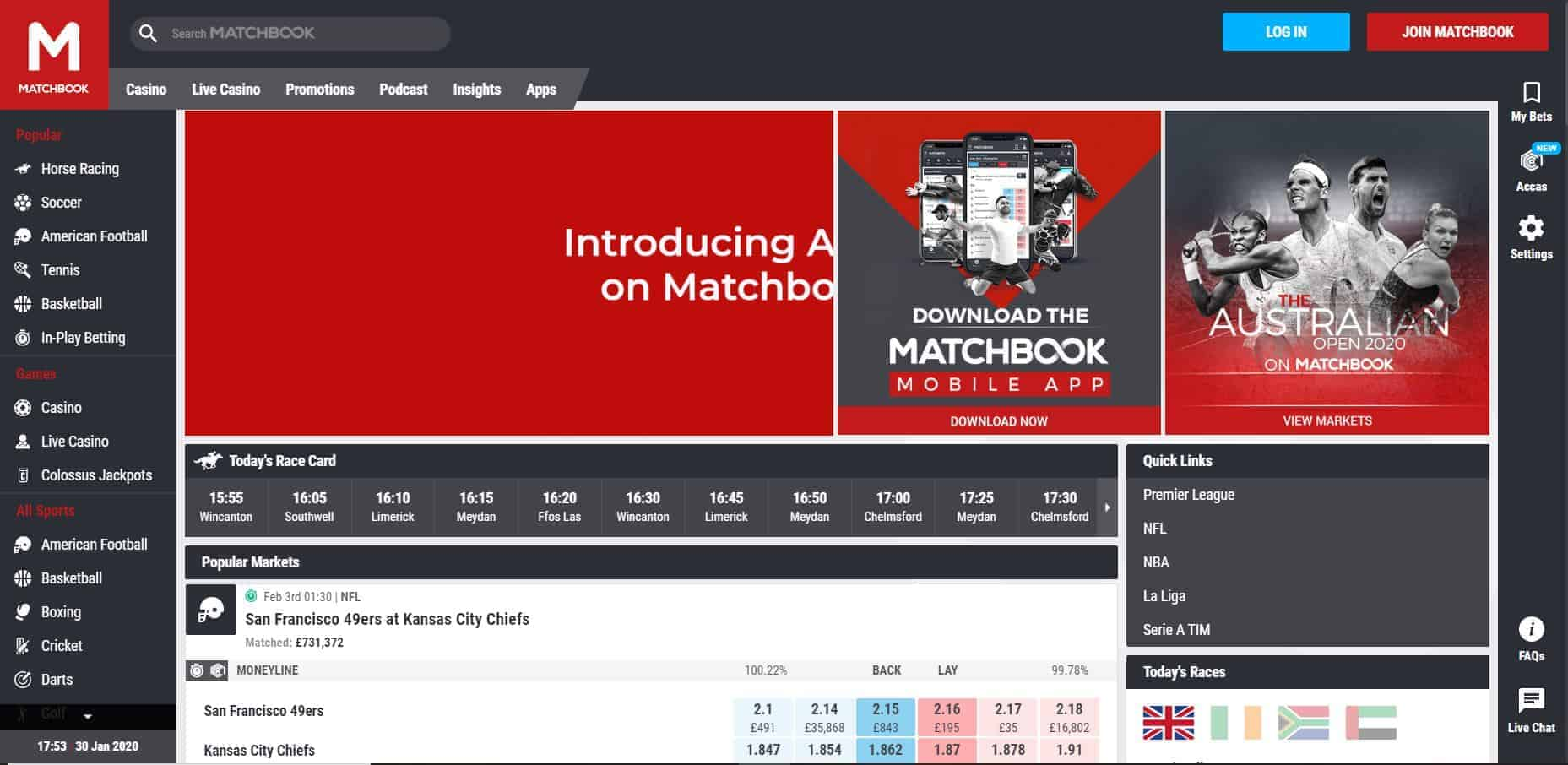 Matchbook Review