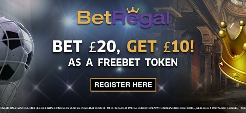 BetRegal Welcome Free Bet Token