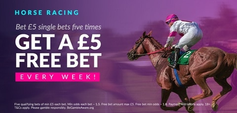 VBET Horse Racing £5 Free Bet