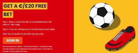SportNation Get a £20 Free Bet