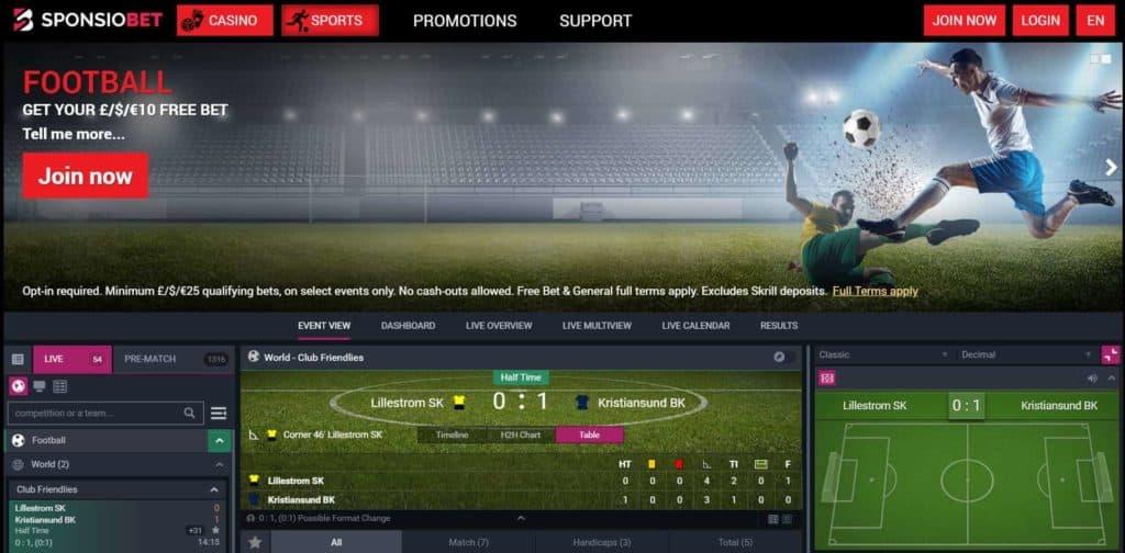 SponsioBet Football Betting