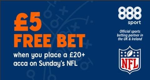 888sport £5 Free Bet - NFL