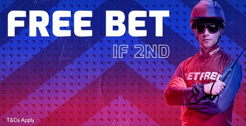 Betfred Horse Racing - Free Bet if 2nd