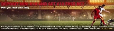 Sponsiobet Deposit Min. £10 And Get £10 Free Bet