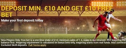 SwishBet Deposit Min. £10 And Get £10 Free Bet