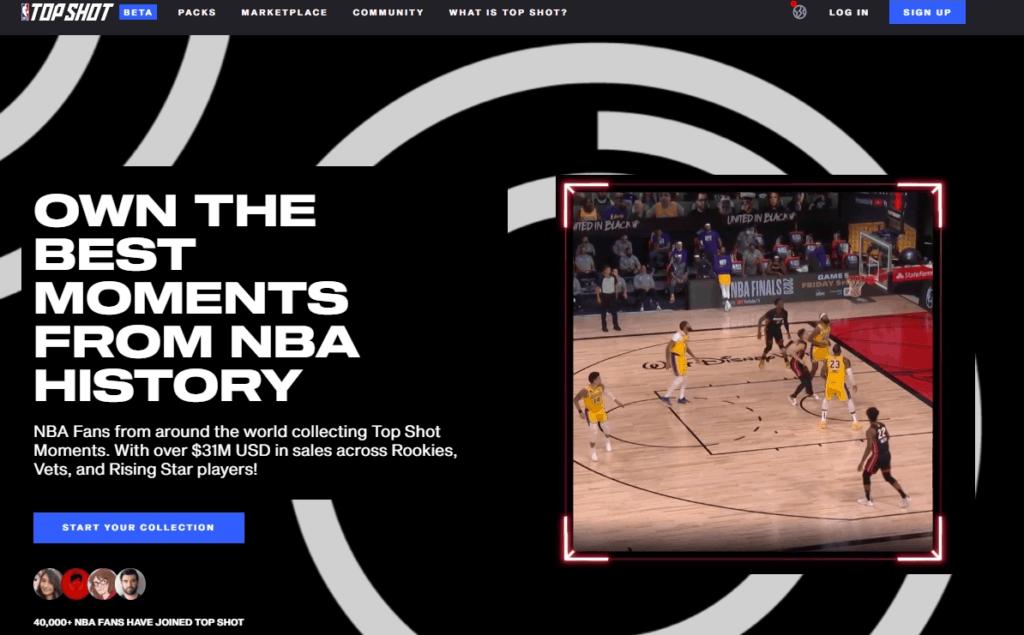 NBA-Top-Shot-homepage