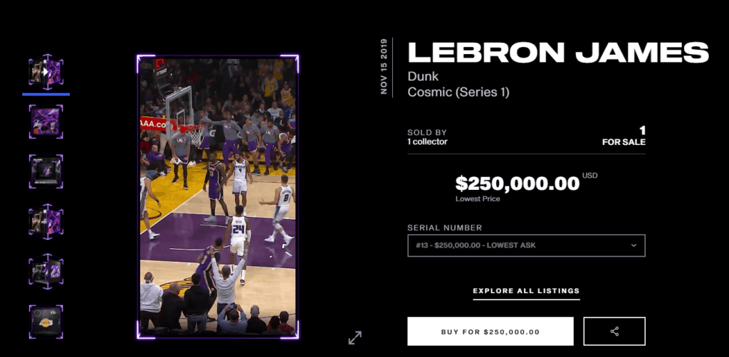 NBA Topshot Lebron James