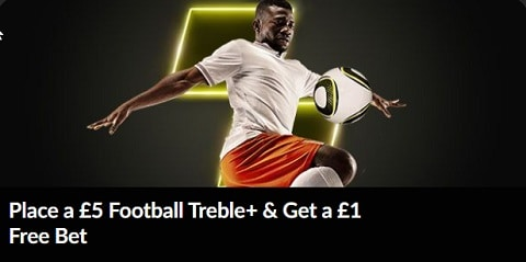 PariMatch Place a £5 Football Trebel+ & Get a £1 Free Bet