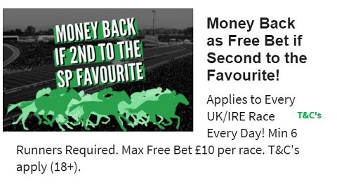 QuinnBet Money Back if Second to the SP Favourite