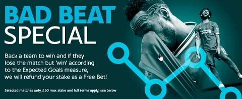 Sporting Index Bad Beat Special