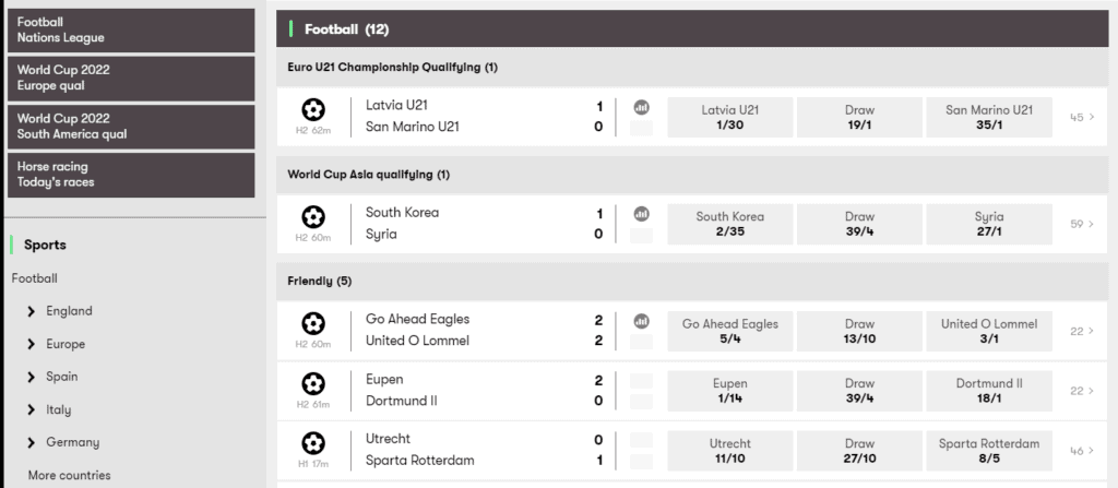 10Bet Football Betting